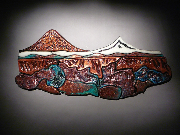 Pottery Mural of Black Butte