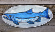 Ceramic Pottery Salmon Platter