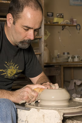 Kenneth Merrill of Canyon Creek Pottery