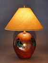 Handmade Ceramic Raku Pottery Lamp