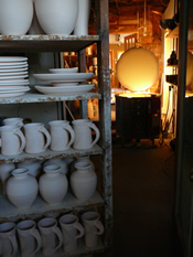 Studio and Kiln at Canyon Creek Pottery